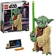 LEGO 75255 星球大战尤达建筑套装,配有展示支架,可收藏模型,克隆攻击系列