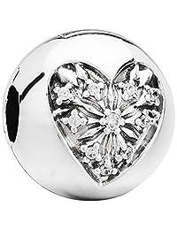 Pandora 潘多拉 丹麦品牌 冬日之心925银固定夹796388CZ