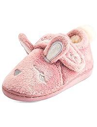 Festooning 女童长耳朵兔子拖鞋舒适柔软温暖毛绒家居防滑鞋