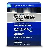 Rogaine Men's Hair Regrowth Treatment Foam/ Rogaine 落健 男士头发再生剂, 4个月用量 美国直邮 包邮包税
