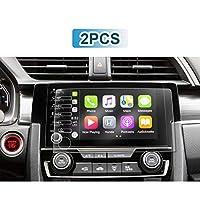 YEE PIN 2 件汽车导航屏幕保护膜,适用于 2019 Civic R EX-L 运动旅行类型,PET 塑料透明保护膜(5 按钮版) 5 Button Version