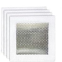 4 x 4 英寸(约 10.2 x 10.2 厘米)重型自粘墙面修补贴片干墙面,一包 4 个