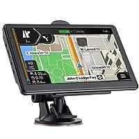 GPS 汽车导航,*新 2020 年地图 7 英寸触摸屏汽车 GPS 256-8GB,语音转向指南,支持速度和红灯警告,预安装北美终身地图 免费更新...