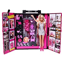 Barbie 芭比 梦幻衣橱(带娃娃) X4833 彩色