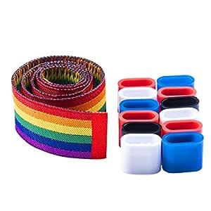 Wunderlabel 腕带塑料锁丝带腕带手臂带 LGBT 同性恋骄傲时尚配件标签标签手链 多种颜色 5