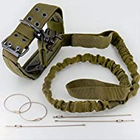 战术狗皮带 (1) [快速释放] + 可调项圈 (1) + 多功能钩夹 (1) SWAT/*/ K9 单位 绿 FA18-1005