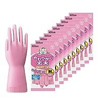 Dunlop 家用产品 手套 天然橡胶 柔软耐用 粉色 M 厨房 餐具 清洁 SP-8 10个套装