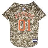 MLB 宠物狗和猫咪服装有 29 个MLB 球队和 6 种尺寸可选 Houston Astros Small Jersey for Pets