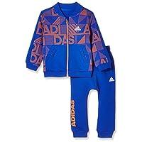 adidas Kids 阿迪达斯 婴儿 婴童针织套服 CV5362 上装:学院蓝/橙黄 下装:学院蓝 IN F BB SET