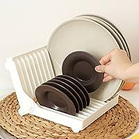Moonyland KM系列 厨房折叠式盘子架 碟子收纳架 碗碟盘沥水架 盘碟置物架 碗碟收纳架 盘子 杯子置物架 (1个)