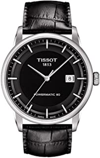 Tissot 男式 T0864071605100 豪华模拟显示瑞士自动黑色手表