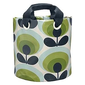 Orla Kiely 中号 70's Flower Oval 系列苹果印花图案植物布袋 - 彩色