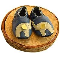 Mali Wear 皮革婴儿软帮鞋*步软底鞋 - 大象