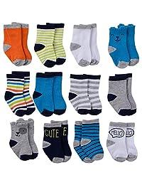 Onesies Brand 男婴 12 双装船袜