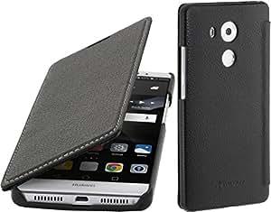StilGut 书籍类型,真皮保护套,华为 外壳HWME8DJ2STBK 黑色