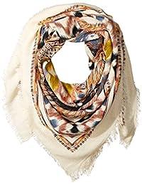 La Fiorentina 女式超大阿兹特克围巾,末端有花纹