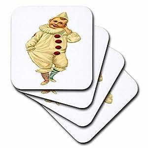 florene 儿童艺术 II–Pierrot–复古小丑–杯垫