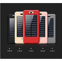 太阳能充电宝便携迷你苹果oppo华为vivo手机通用MIUI移动电源快充无线大容量自带线 (玫瑰金)