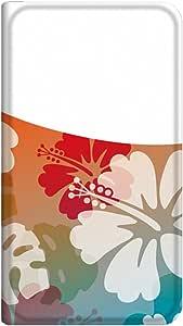 智能手机壳 手册式 对应全部机型 薄型印刷手册 cw-221top 套 手册 百合 超薄 轻量 UV印刷 壳WN-PR015184-S AQUOS PHONE es WX04SH 图案C