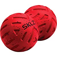 SKLZ 按摩球 - 用于触发点、肌筋膜释放、物理*、减轻*、缓解*、*、*和快速恢复。 (2.5 英寸,5 英寸,双点,通用) Universal Massage 滚轮 1