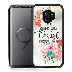 Galaxy S9 手机壳,三星 Galaxy S9 2018 *黑色 TPU 橡胶凝胶设计手机壳 - 南瓜灯 A00-51