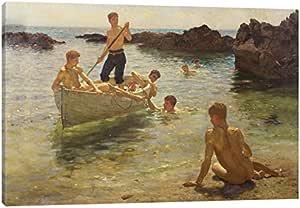 icanvasart 1件套 morning splendour ,1922帆布印刷品 HENRY SCOTT tuke ,0.75来自8BY 30.5cm
