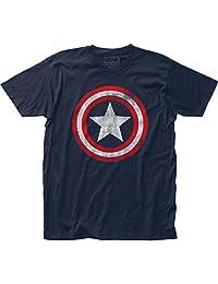 Marvel 美国队长盾徽男士 T 恤