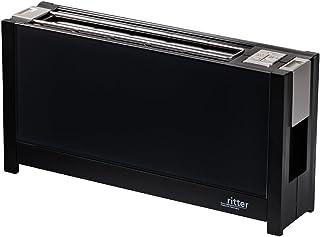 ritter 烤面包机 volcano 5,长款烤面包机,优雅玻璃正面,德国制造 黑色 630.000