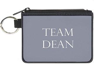 Buckle-Down 女式帆布零钱包,超自然,多色,10.80 x 8.26 厘米