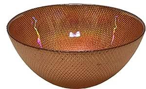 Circleware 玻璃器皿,适用于沙拉、宾馆、饮料、冰淇淋、甜点、食品和*畅销的家居和厨房装饰礼物, Copper Luster 10 英寸 03119