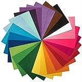 25 包 - 自粘背 - 20.32x30.48cm 手工毛毡面料 - 25 种颜色 - 适合自制万圣节服装