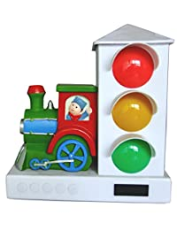 It's About Time Stoplight Sleep Enhancing Alarm Clock for Kids, Green/Red Train