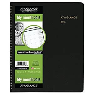 AT A GLANCE Parent 2018 Large Monthly 黑色