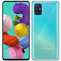 Samsung 三星 Galaxy A51 手机(128GB,4GB)6.5英寸,48MP四镜头摄像头,双SIM卡GSM解锁A515F / DS-全球4G LTE国际型号-Prism Crush Blue(蓝色)