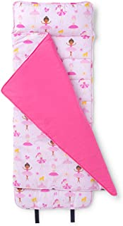 Wildkin 原创午睡垫带枕头,适合幼儿男孩和女孩,尺寸 127.6 x 50.8 x 3.8 厘米,适合日托和学龄前儿童,妈妈选择*得主,不含 BPA,橄榄色儿童(巴勒利纳犬)