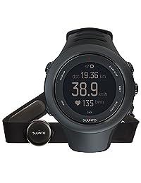 SUUNTO 颂拓 芬兰品牌 拓野3S系列 智能手表 石英手表 中性 男女适用腕表 动感黑色心率 SS020678000(GPS导航、游泳、骑车、跑步、登山、健身、运动、手机无缝对接功能!)