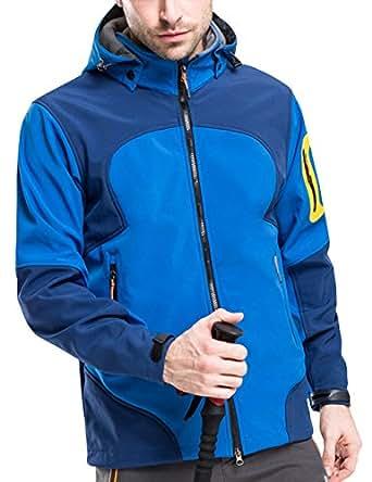 Glestore 软壳冲锋衣 男士户外登山防风保暖抓绒夹克 休闲运动外套