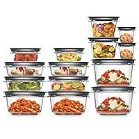 Rubbermaid 2108373 食物准备食品保鲜盒 28 件套 灰色