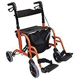 Aidapt 双功能滚轮/变速椅组合,橙色