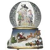Musicbox Kingdom 56016 雪地球雪人积木孩子,8 首圣诞旋律