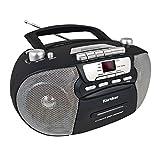 Karcher 凯驰 RR 5040 Oberon 便携式 CD 收音机 (AM / FM 收音机 CD 磁带 AUX 输入 电源/电池供电) 黑色 cm