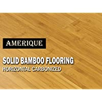 AMERIQUE GLHCM9609615 预制实心竹制地板水平碳化物,23.81 Sqft/3-3/4 x 5/8 英寸 x 37-3/4 英寸,碳化中号帘,方形英尺