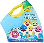 "Crayola 儿童鲨鱼着色套装,送给儿童的礼物,3,4,5,6 Baby Shark Art Case ""Multi"""