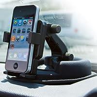 Panavise 15104 PortaGrip Phone Holder with No Skid Dash Mount for iPhone 6 /6 Plus (Matte Black)
