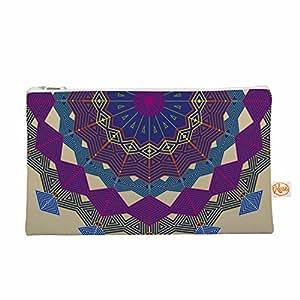 """KESS InHouse Angelo Cerantola""""Composition (Purple)""""薰衣草米色随身包,8.5 英寸 x 6 英寸 (AC3007AEP04)"""