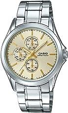 Casio 卡西欧 MTP-V302D-9A 男式多手不锈钢金色表盘模拟手表