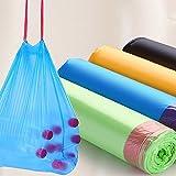 【经济实用 5卷 90只装】家务清洁加厚手提式家用抽绳垃圾袋自动收口垃圾袋
