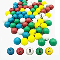 Yuanhe 7/8 英寸多色替换宾果球,带易读数字