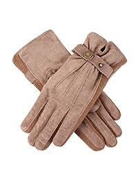 Dents 女士保暖衬里休闲猪皮手套
