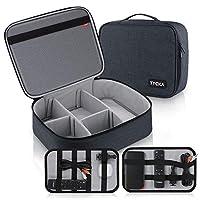视频投影仪盒 TYCKA 防护投影机收纳袋防震投影仪手提箱带 DIY 分隔物 2 件装配件收纳袋 适用于投影仪设备 (15,7 x 12,6 x 4,7 英寸)